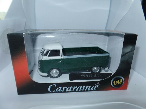 Cararama 1/43 O Scale Volkswagon VW Transporter T1 Pick Up Open Green White
